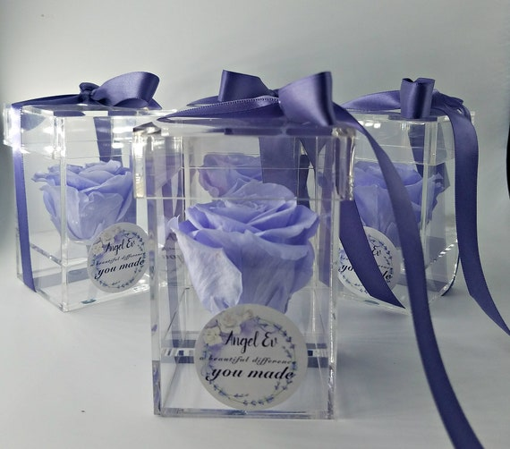 Memorial gift for loved ones,single preserved rose in acrylic box, gift, funeral gift, memorial gift, remembrance