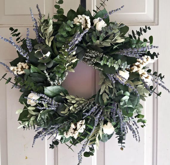 Reserved Lavender wreath, preserved wreath, salal wreath, indoor wreath, 24 inch wreath, fragrant wreath, purple wreath, large wreath