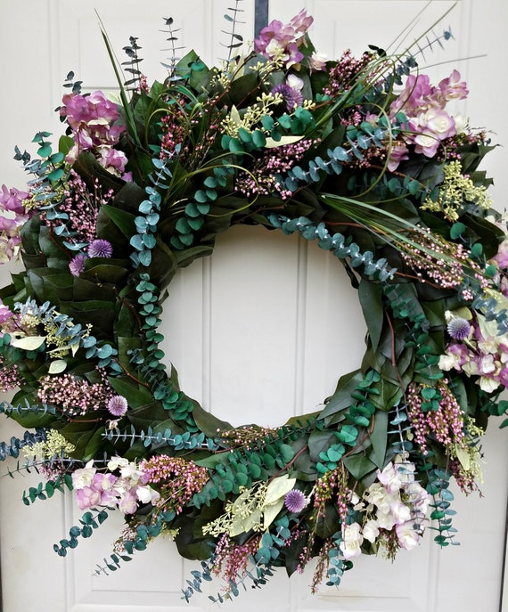 Large preserved eucalyptus wreath wreath/ 30 inches