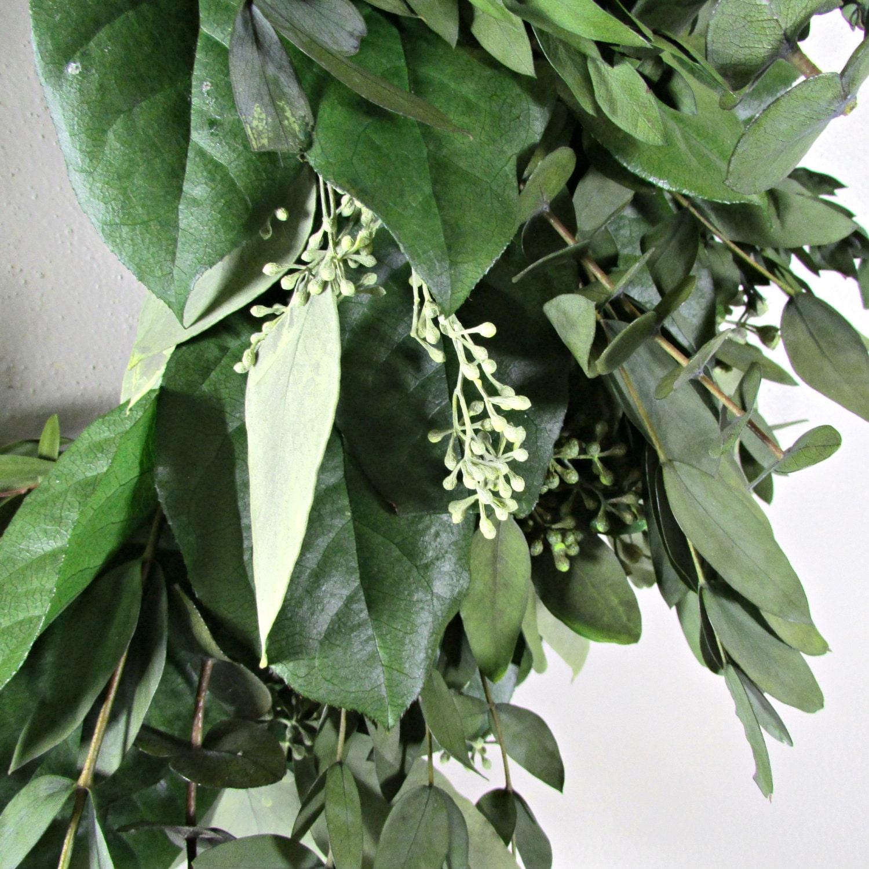 Preserved Eucalyptus Wreath Door Hanger Seeded