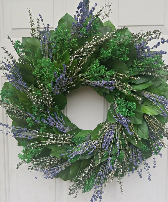 Lavender year round wreath makes a wonderful gift for any occasion.