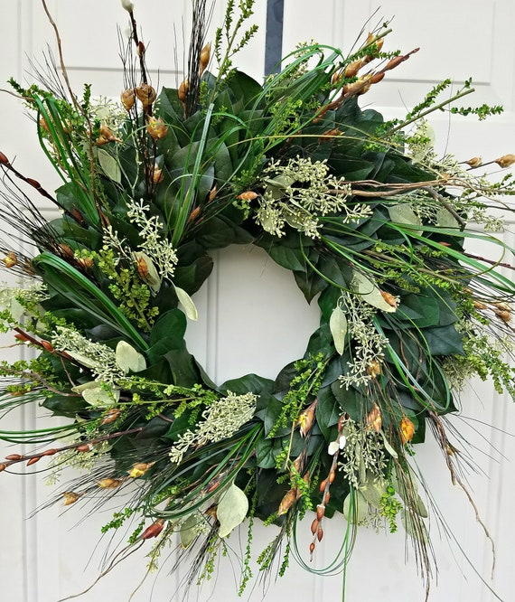 Preserved eucalyptus wreath, fall wreath, autumn wreath, seeded eucalyptus wreath, leaf wreath, preserved wreath, dried wreath