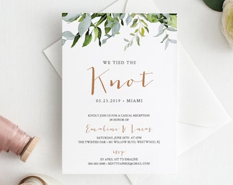 Elopement Invite Etsy