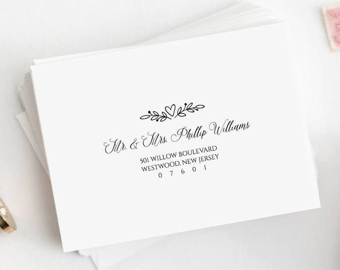 Printable Envelope Template, Custom Wedding Address Template, Editable Text, Calligraphy Address Stamp, Instant Download, A7, A1 #NC-107EN