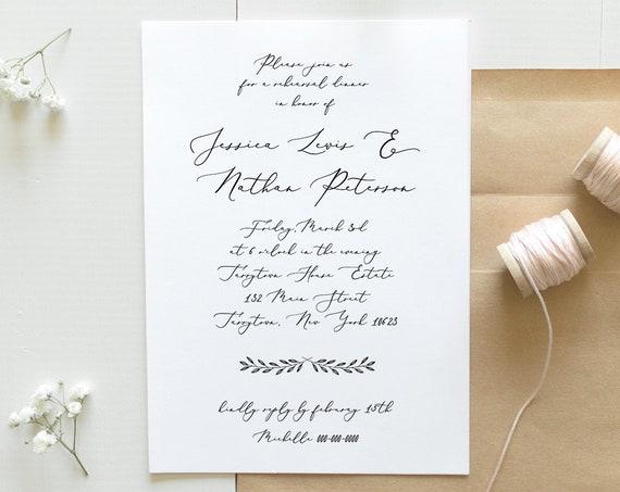 Rehearsal Dinner Template, INSTANT DOWNLOAD, 100% Editable, Rustic Wedding Rehearsal Invitation Printable, Modern Calligraphy, DIY #nc-108RD