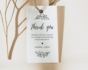 Rustic Favor Tag for Bridal Shower or Wedding, Welcome Bag, Thank You Tag, INSTANT DOWNLOAD, 100% Editable Text, Printable #039-163FT