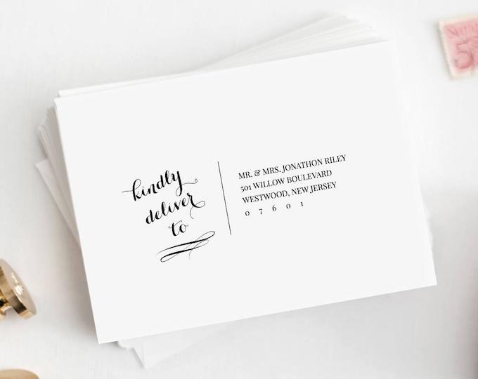 Calligraphy Address Template, Wedding Envelope Printable, DIY Envelope, Instant Download, 100% Editable Template, Digital, A7 & A1 #NC-102EN
