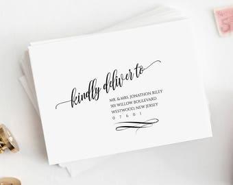 Wedding Address Template, Envelope Template, Modern Calligraphy, Instant Download, 100% Editable, DIY Envelope, A7, A1, Digital #020-103EN