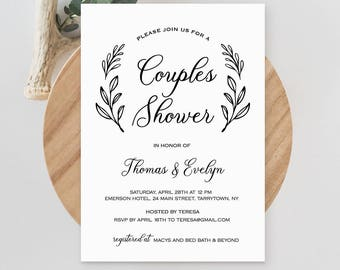 c19c8ec34f6b Couples Shower Invitation Template