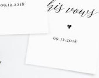 Wedding vows | Etsy