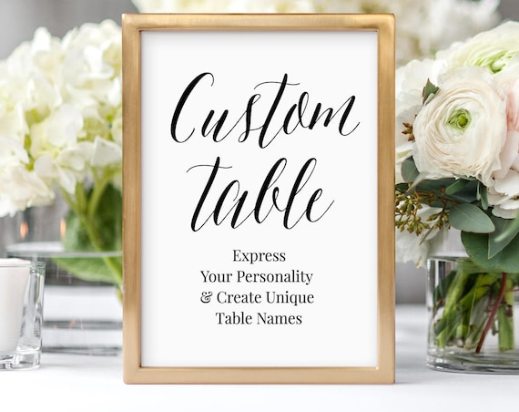 Personalized Table Cards, Wedding Table Numbers, Editable Seating Assignment, Create & Design Unique Table Names, Instant Download #NC-114TC