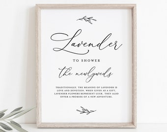Lavender Toss Sign, INSTANT DOWNLOAD, 100% Editable Template, Printable Wedding Lavender Confetti Send Off, Ceremony Exit, 5x7 & 8x10 CHM-08