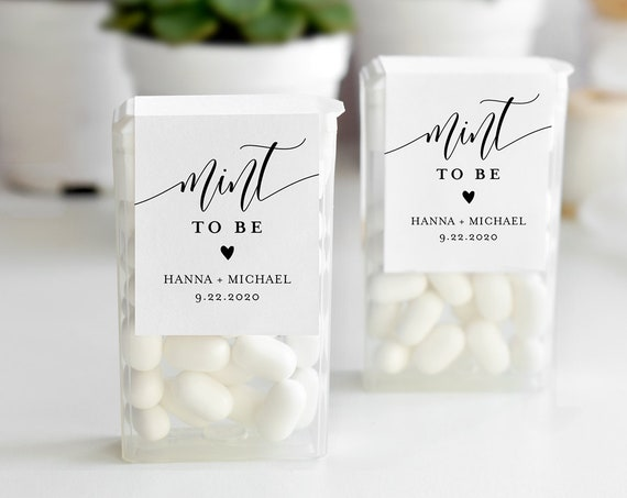 Mint to Be Label Template, Tic Tac Wraparound, Printable Wedding or Bridal Shower Mint Favor Sticker, Instant Download, Templett #008-101TT