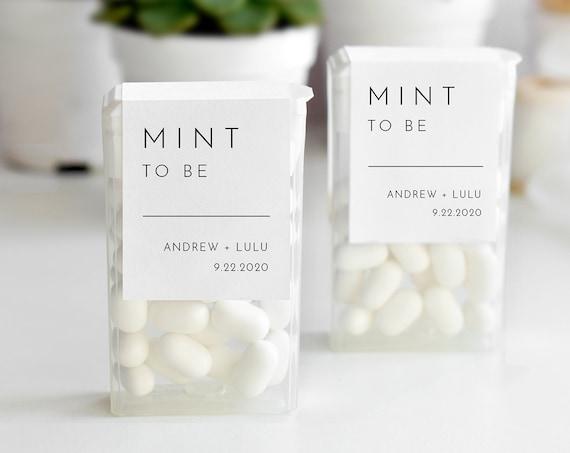 Tic Tac Wraparound, Mint to Be Label Template, Minimalist Wedding or Bridal Shower Mint Favor Sticker, Instant Download, Templett #094-104TT