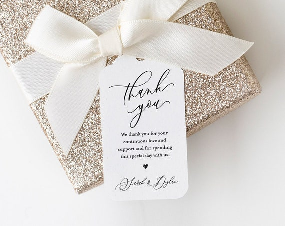 Thank You Wedding Tag, Favor Tag Template, Bridal Shower Tag, Birthday Party Favor Tag, Printable, INSTANT DOWNLOAD, 100% Editable #113FT