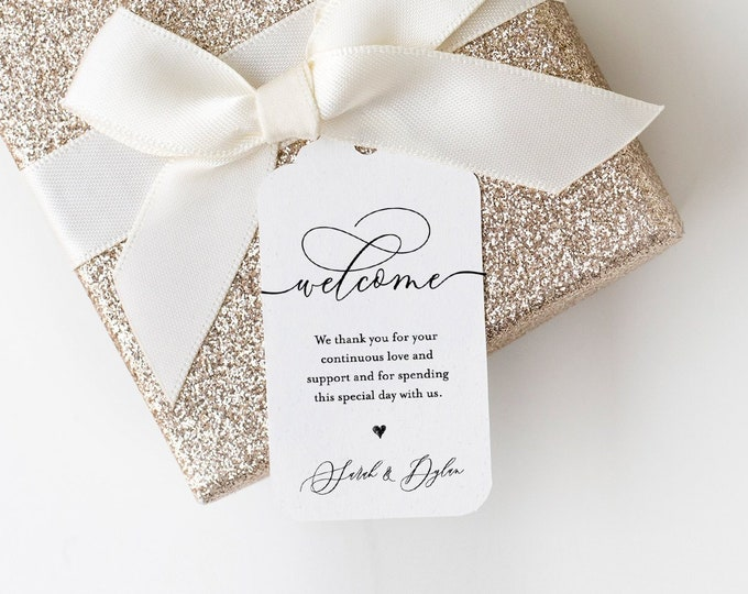 Wedding Welcome Tag, Welcome Bag Tag Template, Printable Thank You Tag, Favor Tag, 100% Editable, Custom Tag, INSTANT DOWNLOAD #115FT