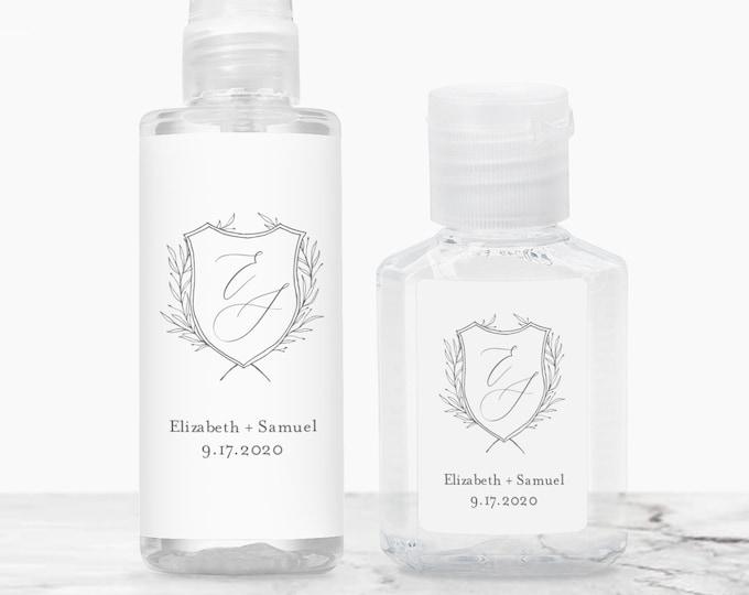 Hand Sanitizer Label Printable, Covid Wedding / Bridal Shower Favor Sticker, Editable Template, Instant Download, Templett #0007-106HS