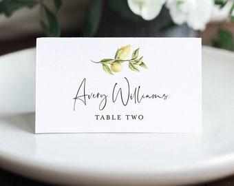 Lemon Place Card Template, Printable Citrus Summer Wedding Escort Card, Minimalist Name Card, Editable Text, INSTANT DOWNLOAD #089-146PC