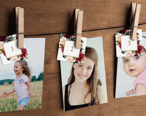 How Old Were They Bridal Shower Game, Baby Photo Game, Instant Download, Editable Template, Guess the Ages Game, DIY, Templett #062-133BG