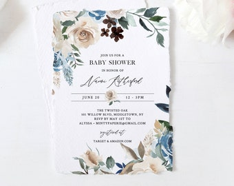 Editable Baby Shower Invitation, Printable Gender Neutral Baby Shower Invite, INSTANT DOWNLOAD, Editable Template, Templett #077-118BA