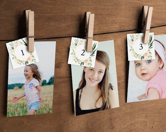 How Old Were They Bridal Shower Game, Baby Photo Game, Instant Download, Editable Template, Guess the Ages Game, DIY, Templett #076-186BG