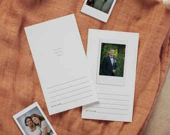 Minimalist Photo Guest Book Card, Instax Wedding Guestbook, Printable Unique Guest Book, Editable, Instant Download, Templett #094-105IGB