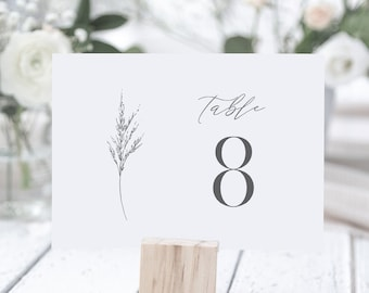 Lavender Table Number Card Template, Simple Minimalist Wedding Table Number, Editable, INSTANT DOWNLOAD, Templett, DIY 4x6 #0006C-182TC