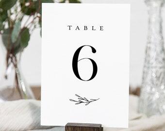 Minimalist Table Number Card Template, Classic, Elegant Wedding Table Number, Editable, INSTANT DOWNLOAD, Templett, DIY 4x6 #037-163TC