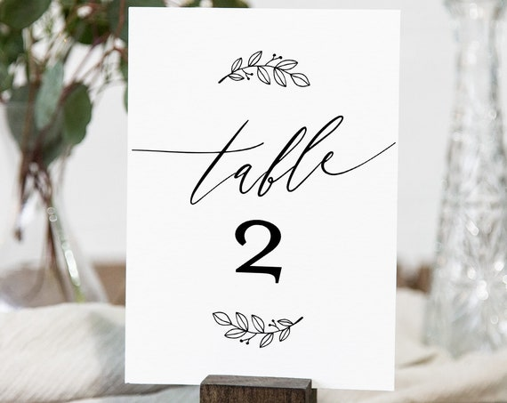 Table Number Card Template, Printable Rustic Wedding Table Number, 100% Editable, Minimalist, INSTANT DOWNLOAD, Templett, 4x6 #052-152TC
