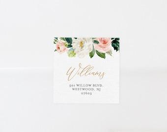 Address Label Printable, Favor Tag, Wedding Envelope Sticker, Return Address Template, INSTANT DOWNLOAD, 100% Editable, Templett 043-106AL