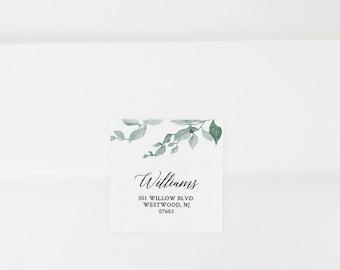Envelope Label Template, Printable Return Address Sticker, Wedding Favor Tag Printable, INSTANT DOWNLOAD, 100% Editable, Templett 019-104AL