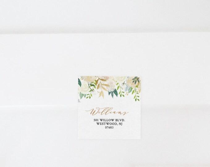 Return Address Label Template, Wedding Favor Tag, Address Sticker, INSTANT DOWNLOAD, Editable, Printable, Floral Greenery, Boho #021-103AL