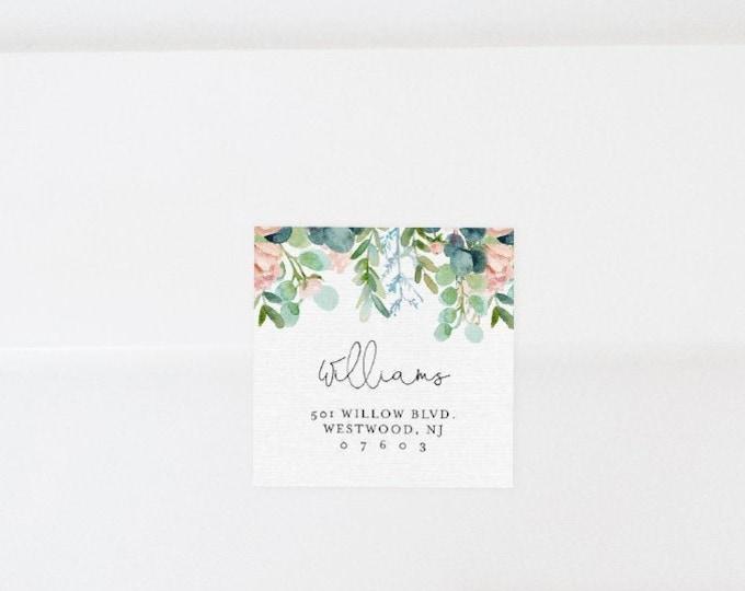 Envelope Label Template, Printable Return Address Sticker, Wedding Favor Tag Printable, INSTANT DOWNLOAD, Editable, Templett #068A-108AL