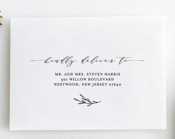 Envelope Address Template, Printable Wedding Envelope Template, Modern Calligraphy, Instant Download, 100% Editable, Templett #037-113EN