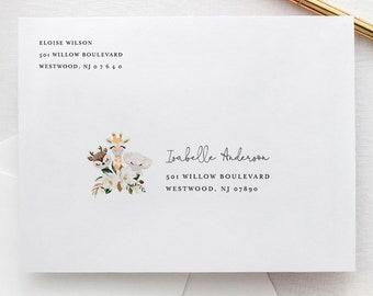 Baby Animal Envelope Template, Printable Mask Baby Shower Envelope, Editable Address, Instant Download, Templett, A7 Size #0008A-153EN