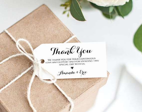 Printable Thank You Tag, Welcome Tag, Wedding Favor Tag, 100% Editable Template, Create & Design Unlimited Tags, Instant Download #NC-102FT