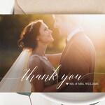 Wedding Photo Thank You Card, Custom Thank You Card, Folded & Flat, 100% Editable Template, Instant Download, Templett, DIY #034-103TYC