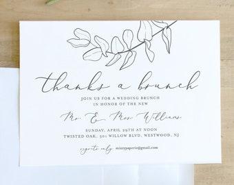 brunch invitation etsy