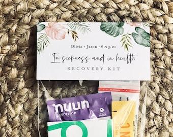 Wedding Recovery Kit Bag Topper Template, Printable Emergency Kit Bag Card, Wedding, Bachelorette, Instant Download, Templett #087-101RK
