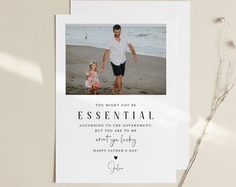 Funny Father's Day Card Template, Custom Insert Your Own Photo, Social Distance, 100% Editable, Print or Digital, Instant Download #103FDC