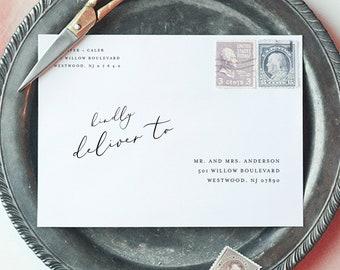 Minimalist Address Template, Wedding Envelope Printable, Instant Download, 100% Editable Template, Digital, A7, A6, A1 #045-157EN