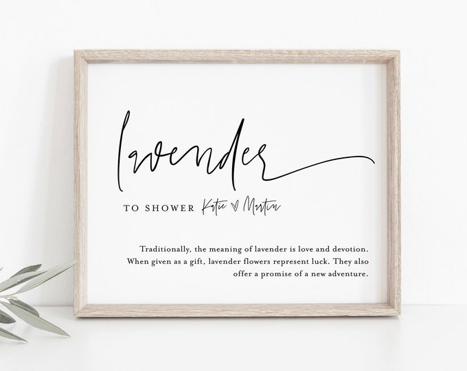 Lavender Toss Sign, INSTANT DOWNLOAD, Editable Template, Printable Modern Wedding Lavender Confetti Send Off, Ceremony Exit, 8x10 #0009-27S