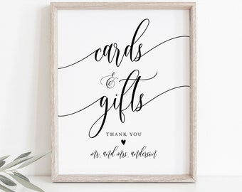 Printable Cards and Gifts Sign Wedding Cards and Gifts Sign Rustic Cards Sign 100/% Editable Greenery Cards and Gifts sign Modern Sign
