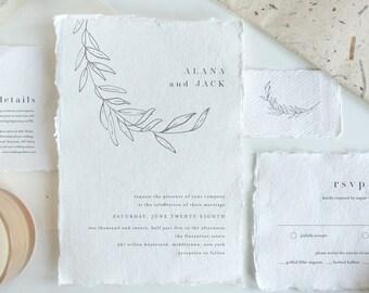 Minimal Wedding Invitation Set, Fine Art, Minimalist, Modern, Simple, 100% Editable Template, Printable, Instant Download, Templett #0006B