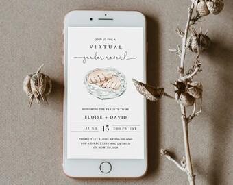 Virtual Gender Reveal Invitation Template, Social Distance Gender Reveal, Quarantine, 100% Editable, Instant Download, Templett #0005-103GR