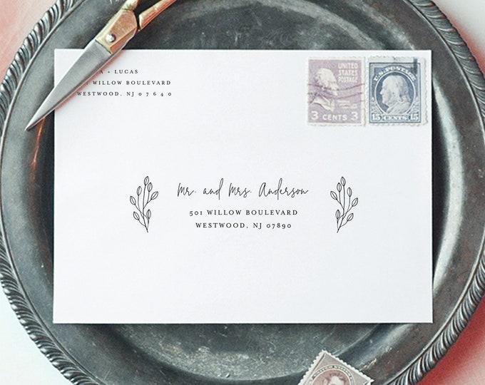 Wedding Envelope Template, Modern Elegant Address Printable, DIY Envelope, Instant Download, 100% Editable Template, A7 & A1 #095-135EN