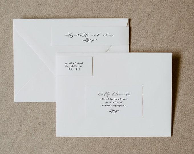 Address Label, Minimalist Wedding Envelope Sticker, Modern Return Address Template, INSTANT DOWNLOAD, 100% Editable, Templett #037-101ENL