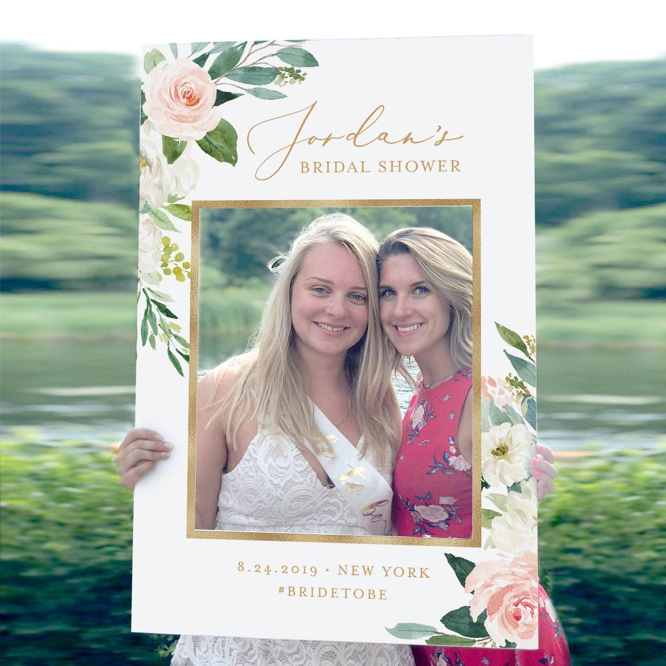 Photo Prop Frame Bridal Shower Frame Wedding Photo Prop Editable