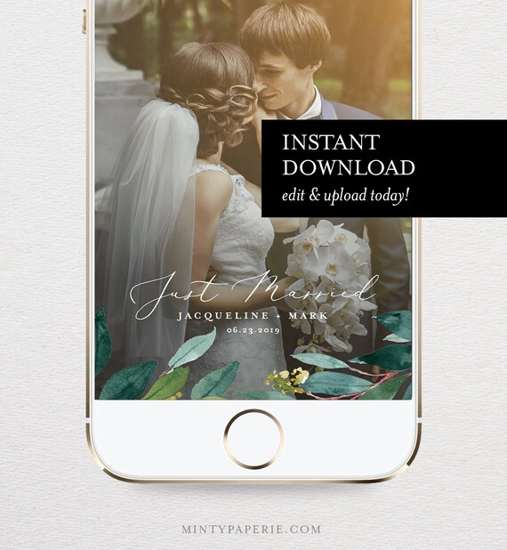 Wedding Snapchat Geofilter Template Instant Download 100 Etsy