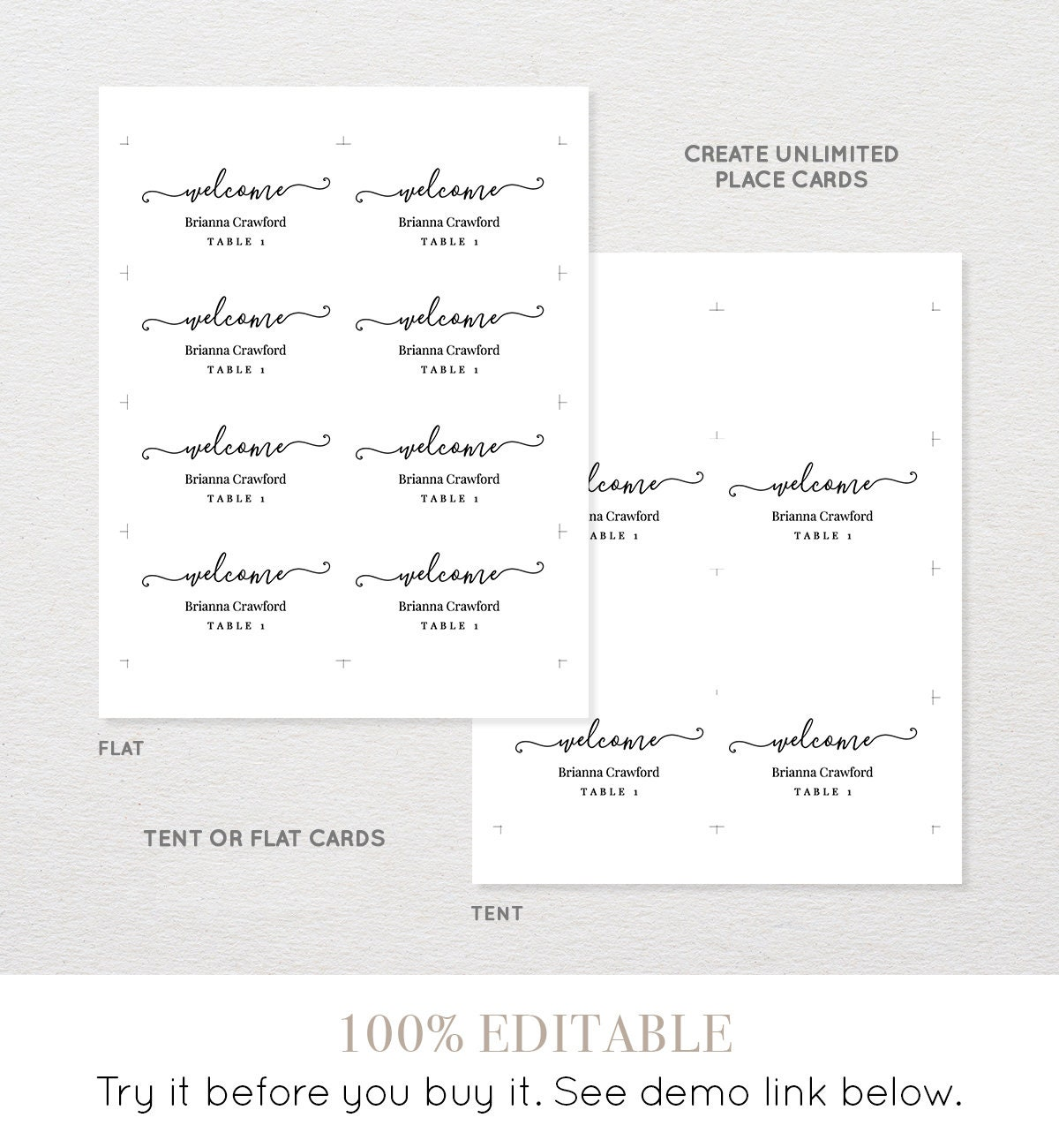 Paper DOWNLOAD Instantly Wedding Escort Card Template Place Card ...